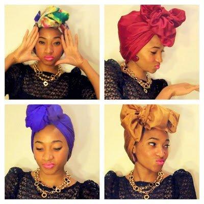 Turban Chic- Scarf Tutorial for Natural Hair