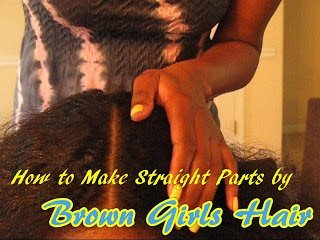 How to Make Straight Parts- Hair Care for Curly Kids