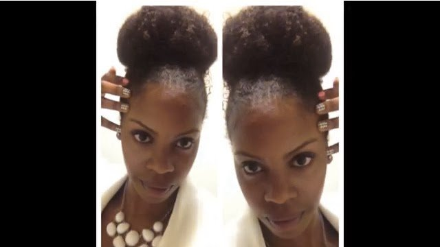 Top Knot Tutorial for Natural Hair