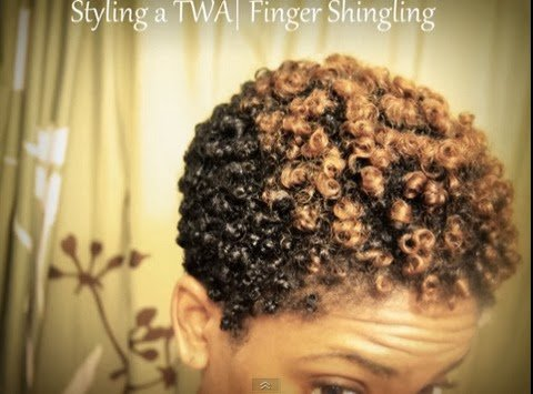 Finger Shingling Your TWA- Natural Hair Styles