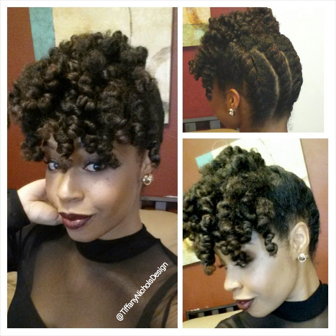 A Holiday Updo for Your Natural Hair!