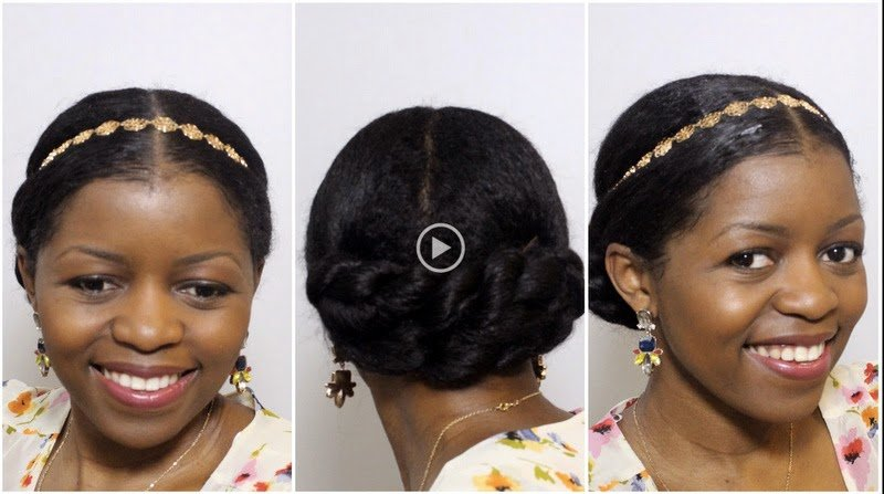 Elegant Twisted Bun Updo for a Formal Occasion