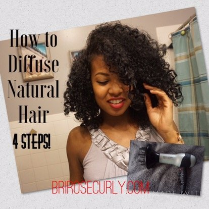 How to Diffuse Natural Hair Without Heat Damage