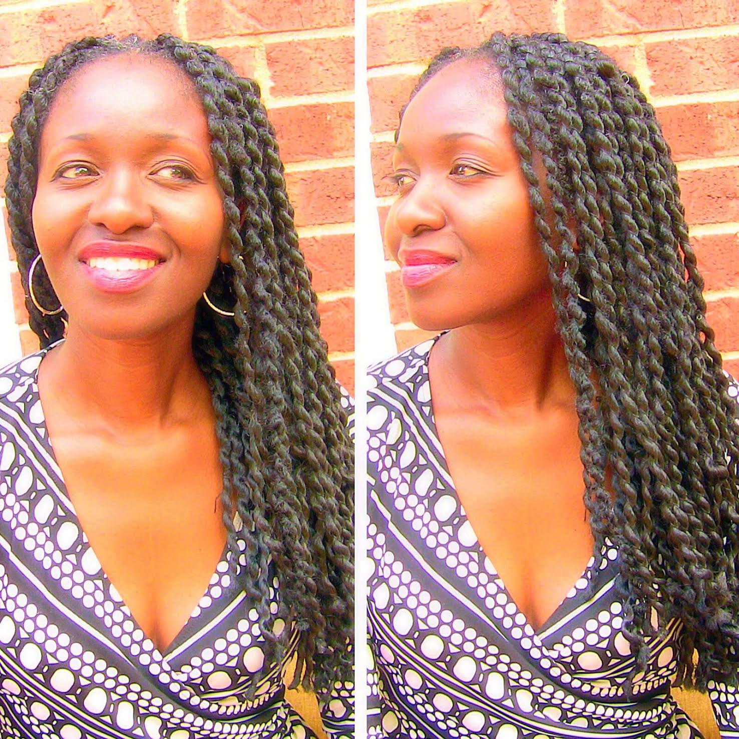 Grow Long Natural Hair using African Threaded Extensions!