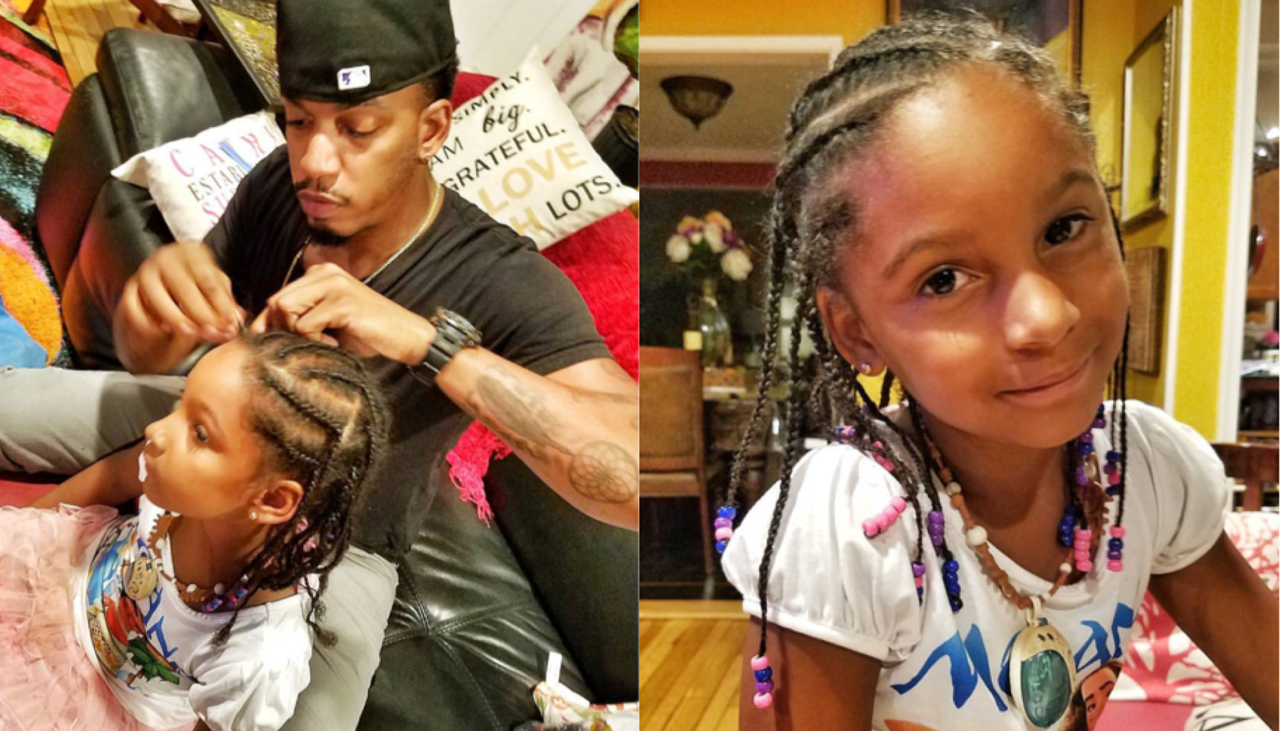 """This Dad's Hair Braiding Skills Give New Meaning To The Term """"Snatching Edges!"""""""