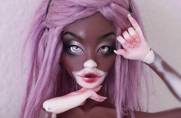 Let's talk about this Winnie Harlow inspired vitiligo doll!