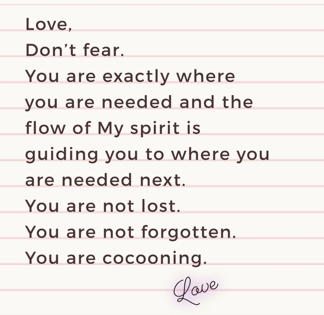 #herLoveNotes: You are Cocooning