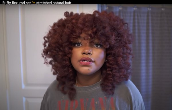 How To- Fluffy Flexi Rod Set on Stretched Natural Hair
