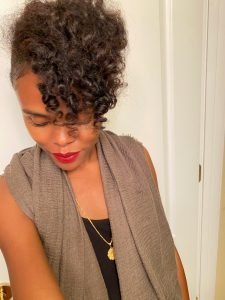 Bantu Knot Out on Damp or Dry Natural HAir