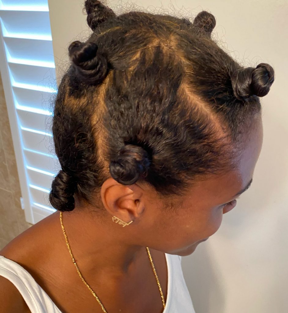 Bantu Knot Outs on Fine Natural Hair
