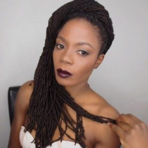4b hair type influencer @junglebarbie1