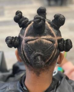 No-heat natural hair styles - Bantu knots