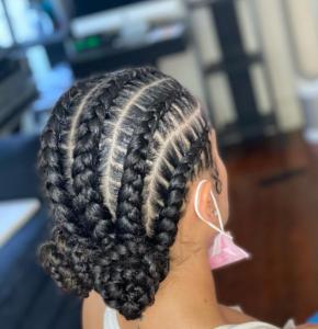 No-heat natural hair styles - cornrows