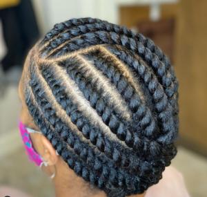 No-heat natural hair styles - flat twist