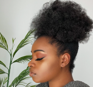No-heat natural hair styles - high puff 2