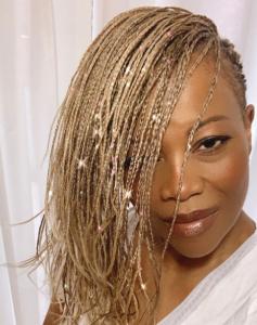 No-heat natural hair styles - microbraids