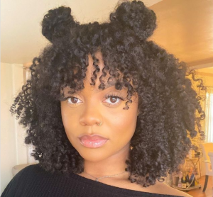 Bantu knots - curly knots
