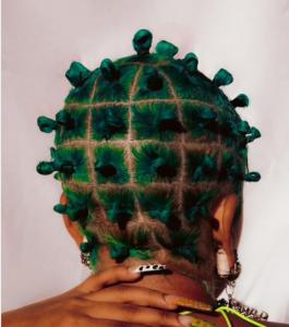Bantu knots - emerald knots