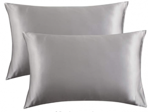 polyester satin pillowcase for curly hair - Bedsure