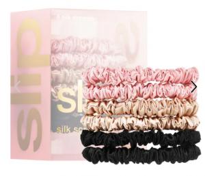 Slip silk scrunchie skinnies