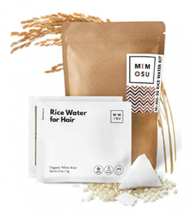 Rice water rinse for curly hair - Mimosu rice water tea bags
