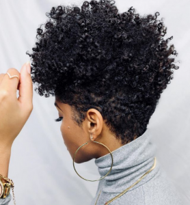 natural hair styles taperedfro @iam.tiffany.renee PNG