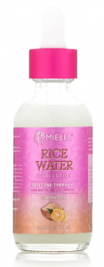 Mielle Organics rice water collection reviews - split end therapy