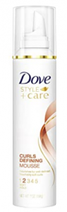 dove curly hair mousse - Dove